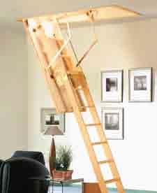 Cadet 2 ISO-RC kétrészes fa padláslépcső fotó