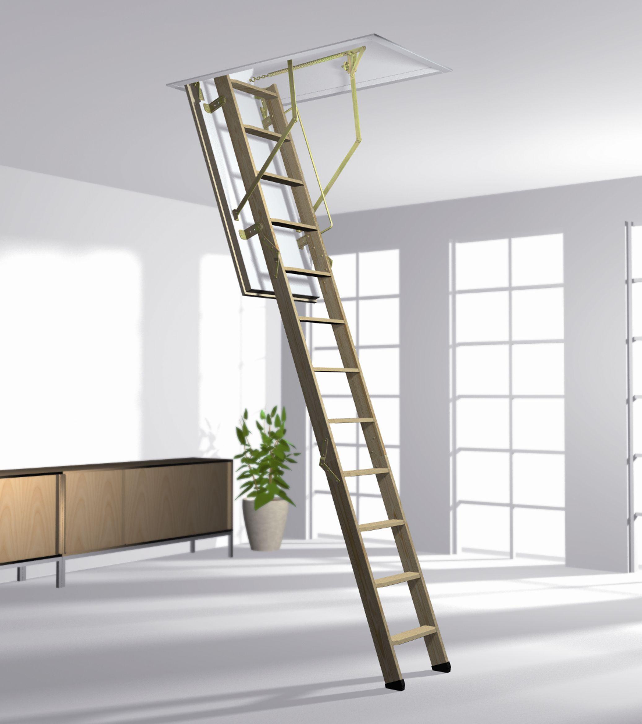 Norm 8/3 ISO-RC háromrészes fa padláslépcső fotó