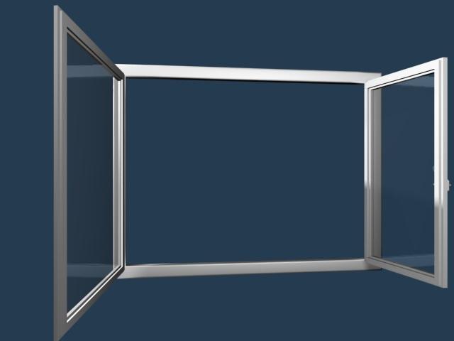 Arcade kétszárnyú középfelnyíló nyíló/nyíló-bukó ablak fotó