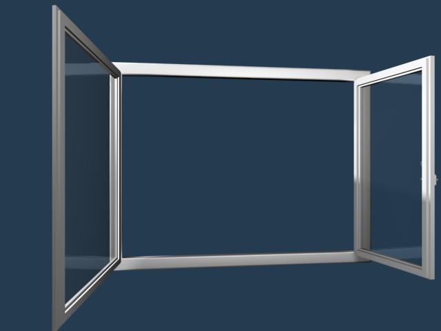 Prestige kétszárnyú középfelnyíló nyíló/nyíló-bukó ablak fotó
